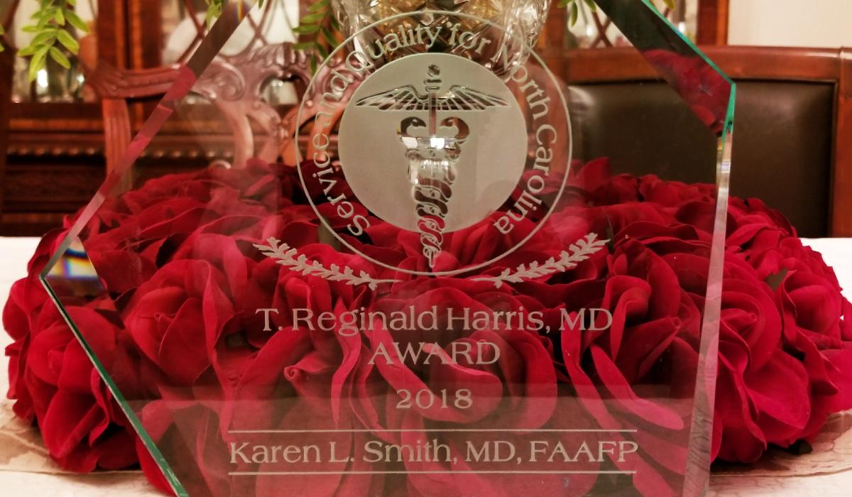 2018 Recipient of the Harris Memorial Award - Karen Smith, MD